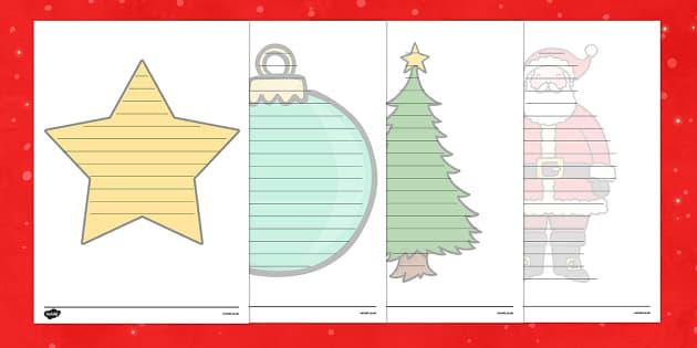 Christmas Editable Shape Poetry Writing Template - Christmas, Xmas, poetry, poems, shape poems, writing, Father Christmas, santa, tree, editable, calligram