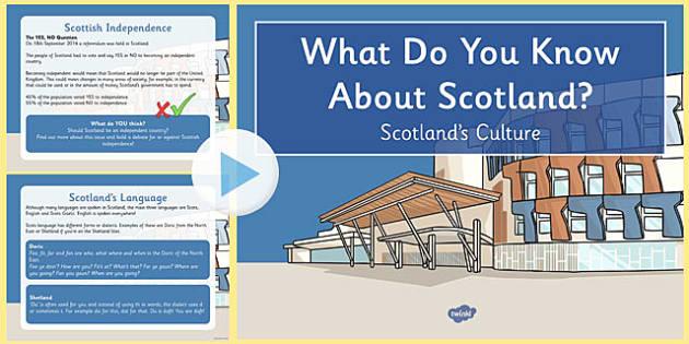 Scotland's Culture PowerPoint