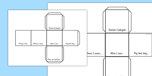 Net of a Cube Holiday Snapshot - net, cube net, holiday, snapshot, questions, group