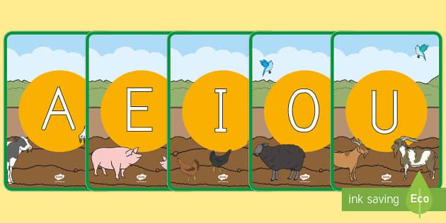 Tarjetas de fonemas: En la granja - En la granja, transcurricular, proyecto, animales, vaca, cerdo, oveja, pato, caballo, cabra, burro,