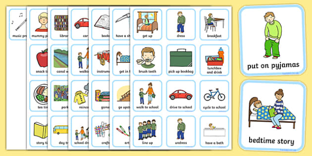 Daily Routine Visual Timetable for Boys daily routine visual – Daily Timetable