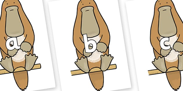 Phase 2 Phonemes on Platypus to Support Teaching on The Great Pet Sale - Phonemes, phoneme, Phase 2, Phase two, Foundation, Literacy, Letters and Sounds, DfES, display
