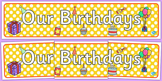 Editable Birthday Display Set (Cakes) - Birthday set, birthday display, banner, birthday, birthday poster, birthday display, months of the year, cake, balloons, happy birthday