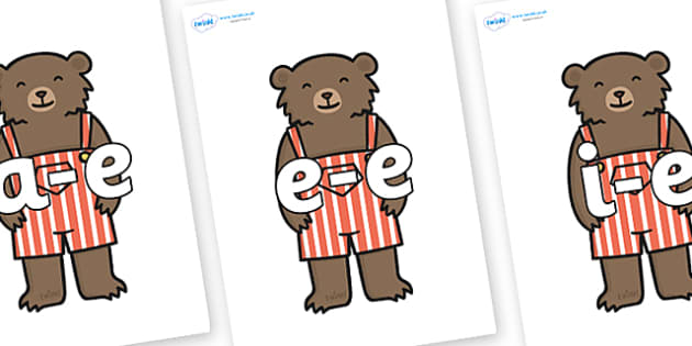 Modifying E Letters on Little Bear - Modifying E, letters, modify, Phase 5, Phase five, alternative spellings for phonemes, DfES letters and Sounds
