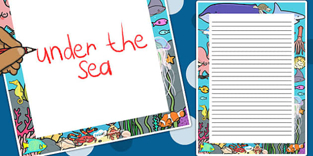 Under the Sea Decorative Page Border - under the sea, page border