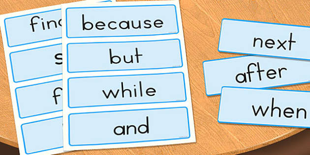 Conjunctions Word Cards - conjunctions, literacy, visual aid, english