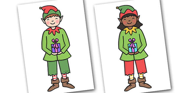 Christmas A4 Elves Editable  - christmas, elves, display, edit