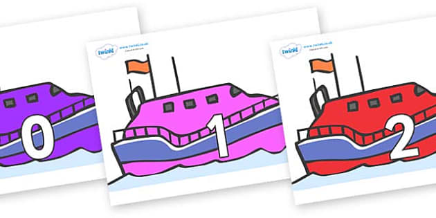 Numbers 0-100 on Lifeboats - 0-100, foundation stage numeracy, Number recognition, Number flashcards, counting, number frieze, Display numbers, number posters