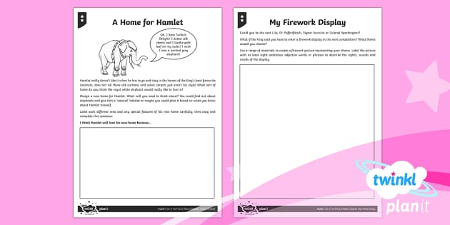 PlanIt Y3 Explorers: To Support Teaching on The Firework-Maker's Daughter Home Learning Tasks - habitat, home, environment, Hamlet, firework display, Philip Pullman, firework-maker's daughter, ho