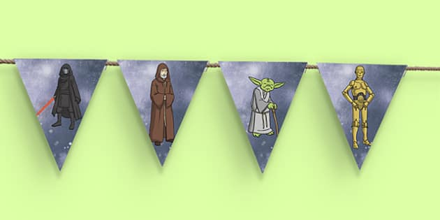 Space Wars Themed Display Bunting - space wars, star wars, space, wars, star, bunting