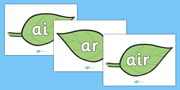 Phase 3 Phonemes on Spring Leaves - phase 3, phonemes, leaves, phase, spring leaves, spring