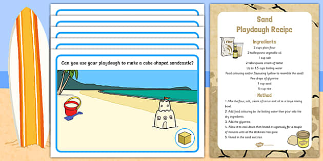 3D Shapes Sandcastle Playdough Recipe and Mat Pack