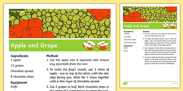 Apple and Grape Frog Recipe