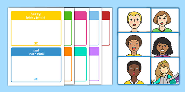 How Am I Feeling? Sorting Activity Romanian Translation - how am i feeling, sorting activity, feelings, emotions, sorting, sort, activity,emtions,pictures of people frieghtened,adjacent consonants,feelins,fellings, romanian, mfl, eal, sen, translatio