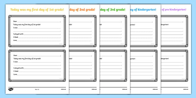First Day of School Letter to Parents Activity Sheet, worksheet