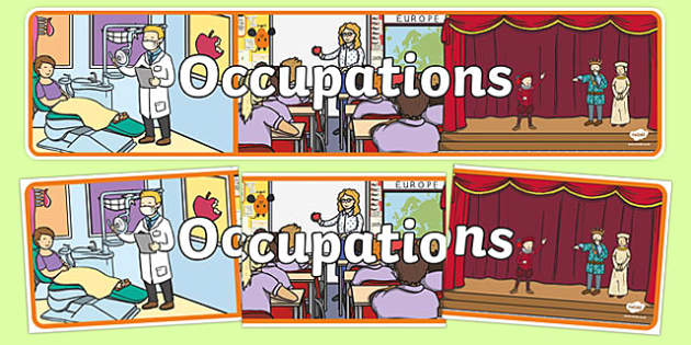 Occupations Display Banner - People who help us, Display, Banner, Role Play, Doctor, Nurse, Teacher, Police, Fire fighter, Paramedic, Builder, Caretaker, Lollipop, Traffic Warden, Lunchtime supervisor, lunch time assistant, midday assistant