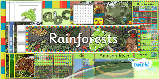 PlanIt - Geography Year 3 - Rainforests Unit Additional Resources - planit, geography, year 3, rainforests, additional resources