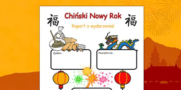 Raport z wydarzenia Chiński Nowy Rok po polsku - Chiny, pisanie