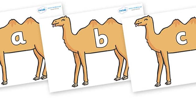 Phase 2 Phonemes on Camels - Phonemes, phoneme, Phase 2, Phase two, Foundation, Literacy, Letters and Sounds, DfES, display