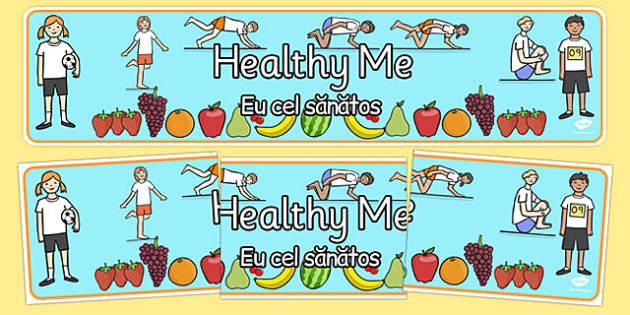 Healthy Me Display Banner Romanian Translation - romanian, healthy eating, health, header