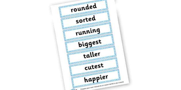 Suffix Word Cards - Prefixes and Suffixes Primary Resources, Words and Vocabulary
