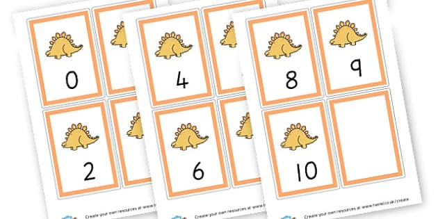 Number Cards 1-10 (Orange) - Maths Primary Resources, maths games, numbers, counting, money, NUMRCEY