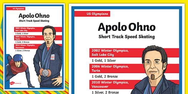 US Olympians Apolo Ohno Poster - usa, america, olympics, olympians, poster