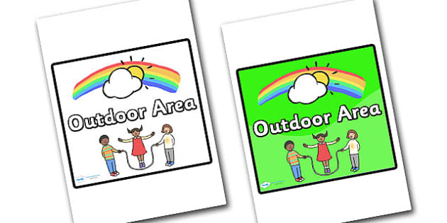 Outdoor Area Sign - sign, display sign, area display sign, area sign, area, outdoor, outdoor area sign, outdoor area, outdoor sign, classroom areas, school areas, classroom area signs, topic signs, topic area signs