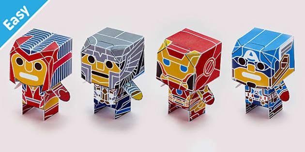 Enkl Marvellous Heroes Desk Buddy Characters Printable - enkl, marvellous heroes, desk buddy, characters, printable