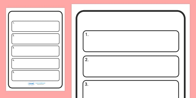 Editable Instruction Writing Frames - Editable Instruction