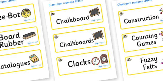 Busy Bee Themed Editable Additional Classroom Resource Labels - Themed Label template, Resource Label, Name Labels, Editable Labels, Drawer Labels, KS1 Labels, Foundation Labels, Foundation Stage Labels, Teaching Labels, Resource Labels, Tray Labels,