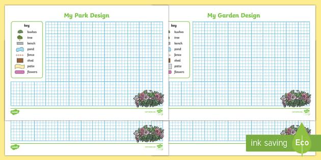 Garden & Park Design Sheets - Garden, park, layout, design, landscaping, garden design, park design