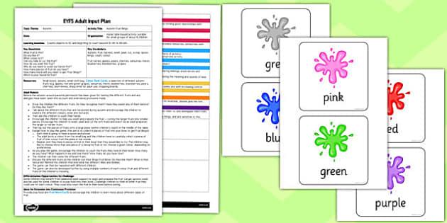 Autumn Fruit Bingo EYFS Adult Input Plan and Resource Pack