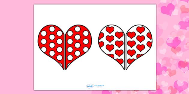 Valentine's Day Heart Pattern Matching Activity - matching activity, matching, valentines day, valentines, valentines patterns, valentines day matching activity, valentines day matching, activity, pattern matching, patterns, pattern, snap