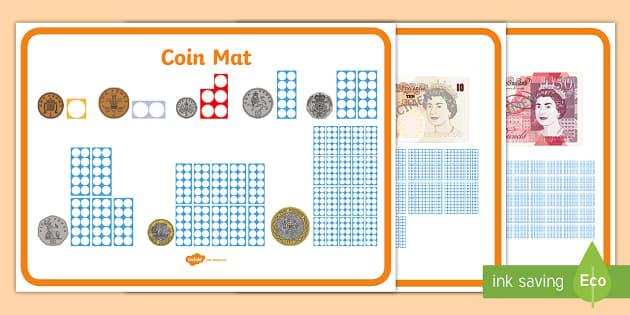 Maths Intervention Money Mats - SEN, special needs, maths, money, counting money, recognising money, adding money, coins, notes