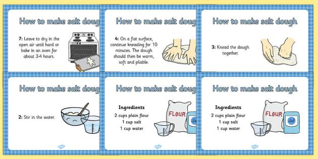 Salt Dough Recipe A4 Display Posters - Salt Dough, Saltdough, recipe, display, poster, A4, making saltdough, recipe card, how to make salt dough
