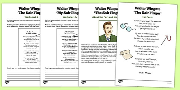 Scots Poetry Walter Wingate The Sair Finger - Scots, Scots poem, Scots poetry, Scottish