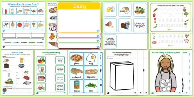 Top Ten Food  Activity Pack - Requests KS1,, key stage one, year 1, y1, year 2, y2, food, eat, drink, eating, healthy, food groups