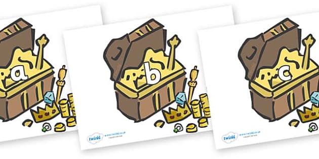 Phase 2 Phonemes on Treasure Chests - Phonemes, phoneme, Phase 2, Phase two, Foundation, Literacy, Letters and Sounds, DfES, display