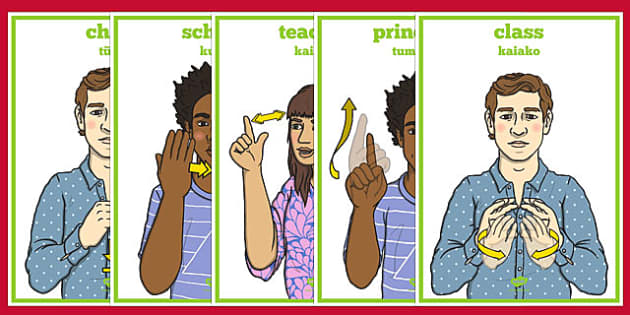 New Zealand Sign Language School Display Posters - nz, new zealand, sign language, school, display posters, display, posters