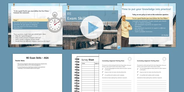 AQA GCSE: Concluding Evaluation Questions PowerPoint Pack