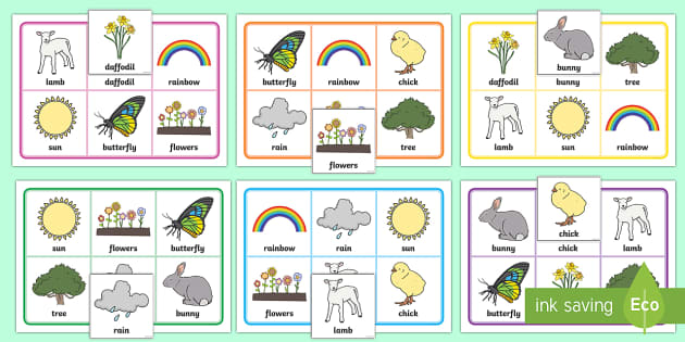 Spring Themed Bingo - EYFS, Early Years, KS1, seasons, activity, spring, bingo