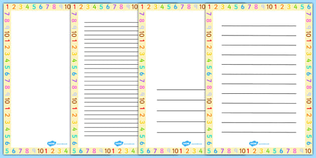 Number Page Borders - number, page, borders, page borders, border