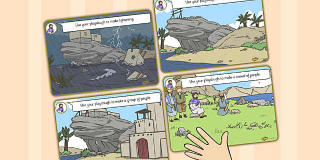 The Two Builders Playdough Mats - parables, two builders, mats