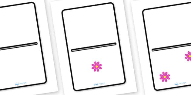A4 Flower Dominoes - flower, garden, plants, garden centre, domino