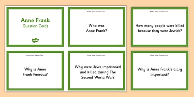 Anne Frank Quick on the Draw Research Task - anne frank, world war 2, nazi, germany, jewish
