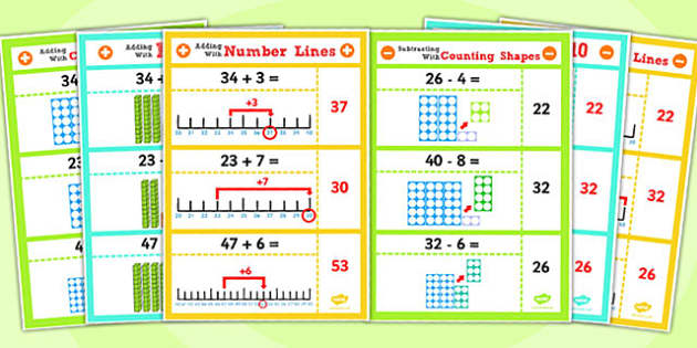 Year 2 Adding and Subtracting 2 Digit Numbers and Ones Display