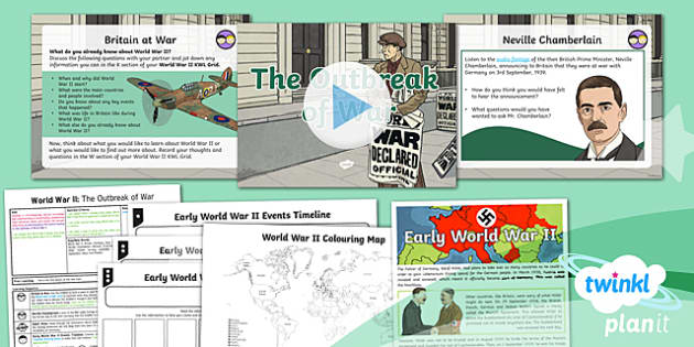 PlanIt History UKS2 World War II Lesson 1: The Outbreak of War Lesson Pack
