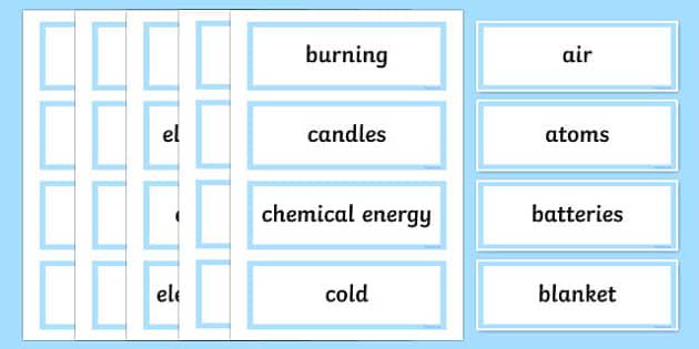 Heating Up Word Wall Display Cards - australia, Australian Curriculum, Heating Up, science, Year 3, word wall, display