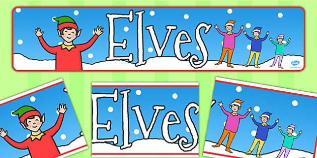Elves Display Banner - elves, display, banner, elf on the shelf